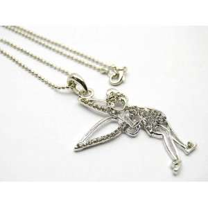 Tinkerbell, Angel, Fairy, Pixie Crystal Studs Necklace