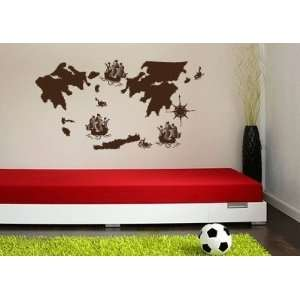 Map Vinyl Wall Decal Sticker Graphic By LKS Trading Post Baby