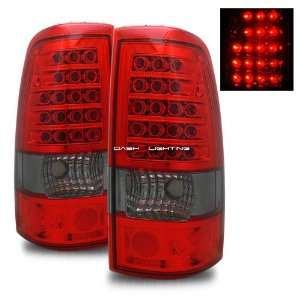 99 02 Chevy Silverado LED Tail Lights   Red Smoke