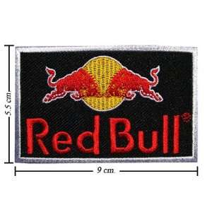 Red Bull Energy Drink Logo 1 Embroidered Iron on Patches From Thailand