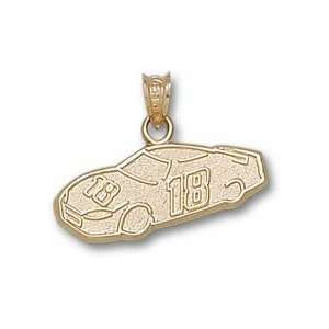 Kyle Busch #18 Car Pendant   10KT Gold Jewelry:  Sports