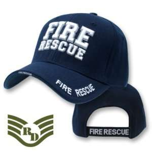 Fire Rescue adjustable baseball cap blue & white