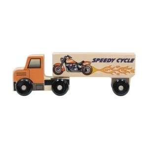 Wood Semi Truck Toy   Motorcycles: Toys & Games