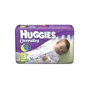 HUGGIES OVERNITE DIAPERS, SIZE 3, 144/CS, KIC52093 Sports & Outdoors