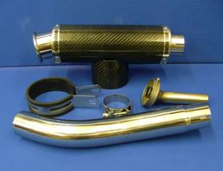 ZX10 04 05 ZX10R CARBON BIG BORE EXHAUST STUBBY CAN