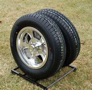JD Wheels & Tire Pkg PAIR 15x4.5 Gasser replica 5x4.75