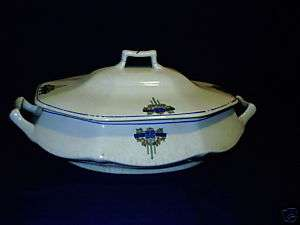 Salem China Serving Dish With Lid Vintage