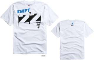 Shift Racing Chad Reed Knockout Tee White Adult Large Team Two Two