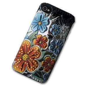 with Blue Yellow Orange Floral Flowers Design 3D 3 D Luxury Graphics