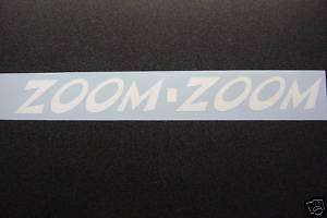 ZOOM ZOOM MAZDA 6 Mazda 3 Tribute Sticker Decal small