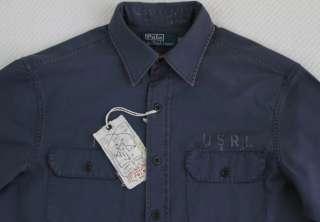 Mens POLO RALPH LAUREN Blue NAVY Shirt Medium M NWT NEW