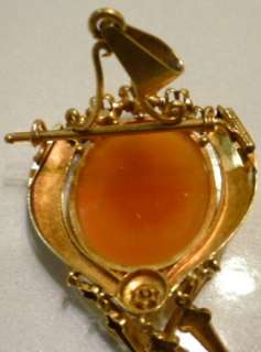 Victorian Art Glass Cameo Brooch / Pendant *UNIQUE Clasp*