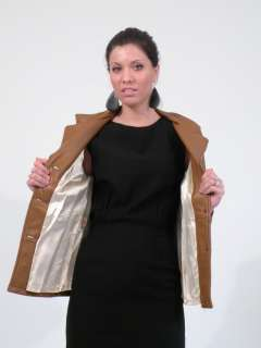 Vtg 60s deerskin soft leather brown jacket blazer S M