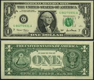 UNITED STATES USA   1 DOLLAR 2001 Unc P 509 G