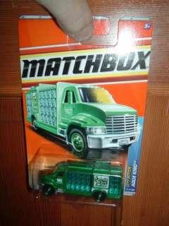 Matchbox Aqua King Water truck GREEN #71 2011 City Act