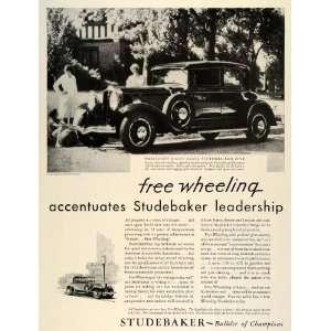 1931 Ad Studebaker President Eight Automobile Vintage Car