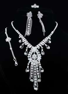 wholesale 6sets mix style rhinestone jewelry set neckalce+earring