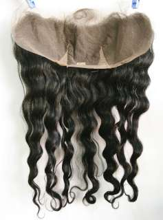 100% Indian remi lace frontal, free style, #1,16 ,Deep Wave, Free