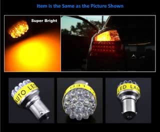 AMBER 1156 7506 19 LED REAR TURN SIGNAL LIGHT BULBS #a