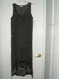 NWT LA PALAPA Animal Tiger Black Sheer Tank Dress Sz M