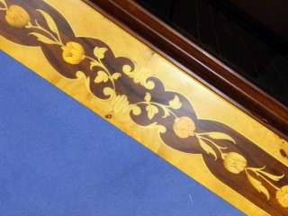 Marquetry Design Italian Wood Inlay Inlaid Multi Game Table 4 Chairs