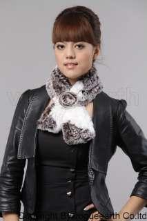 556 new real Rex rabbit fur 4 color scarf/shawl/wrap