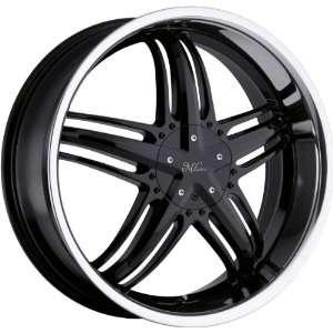 20x8 Milanni Force 5x110 5x115 +38mm Black Wheels Rims