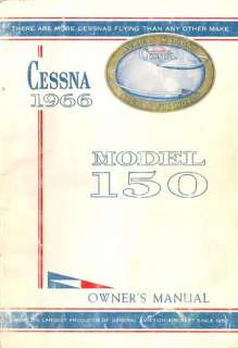 1966 Cessna 150 Owners Manual in PDF format on CdRom