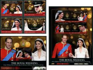 GUINEA   2011 Pr William/Kate Middleton Royal Wedding SCOTT 1586 1591