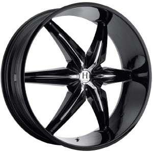 24 inch Helo HE866 black wheels rims 6x132 +35
