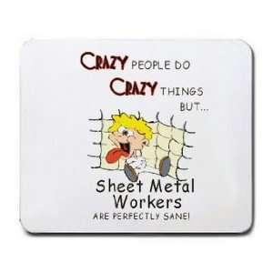 CRAZY PEOPLE DO CRAZY THINGS BUT Sheet Metal Workers ARE