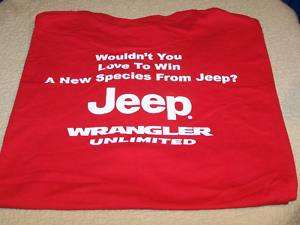 JEEP WRANGLER UNLIMITED Wouldnt You Love T Shirt LG New