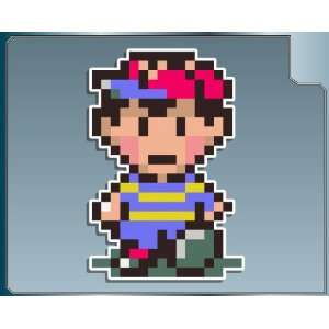 NESS from Earthbound 8bit vinyl decal sticker: Everything