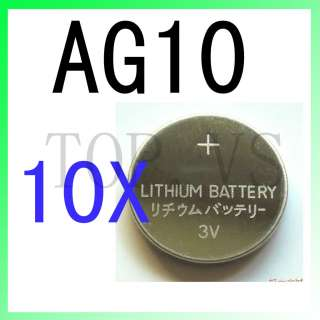 10x Lithium Coin Cell Battery AG10 AG 10 189 389A 390A AG10 D189 G10