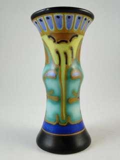 Vintage Corel Schoonhaven Holland Gouda Art Pottery Bud Vase Miniature