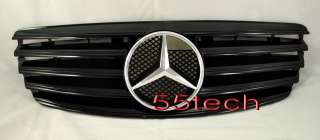 Mercedes Benz W211 Grill E320 E500 E55 03~06 All Black Grill AMG CL
