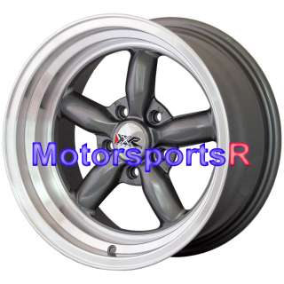 XXR 512 Gun Metal Rims Wheels Deep Dish 69 70 71 72 73 Ford Mustang GT