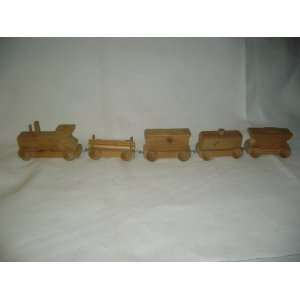 Hand Made Wooden Toy Train (5 pieces) Everything Else