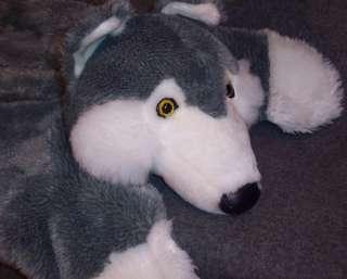 WMG GREY WHITE HUSKY DOG Lovey Blanket