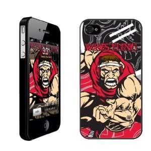 Wrestling Themed/Intimidating Wrestler   iPhone Hard Case   Black Case