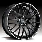 18 WHEELS RIMS MSR 045 BLACK & 225 40 18 TIRES BMW 1 S