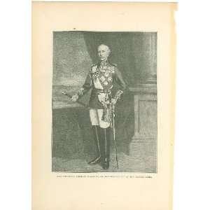 1900 Print British Field Marshal Viscount Wolseley