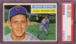 RUSS MEYER 1956 Topps #227 PSA 5 CHICAGO CUBS