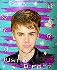 Justin Bieber Face Super Soft Warm Fleece Throw Blanket Beiber Hearts