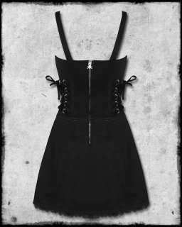 TRIPP BLACK GOTH STEAMPUNK RUFFLE CORSET MINI DRESS SZ