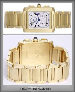 Cartier Tank Francaise Chronograph Mens Gold Watch W5000R2