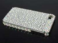 new bling pearl & clear crystal skin cover hard case for Apple iphone