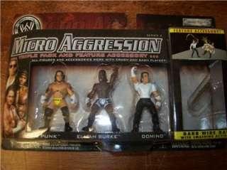 SET OF 3 (3PKS) WWE JAKKS MICRO AGGRESSION 10 FIGURES