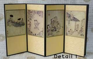 Miniature Folding Screen Kim Hong Do Antiques Art Deco