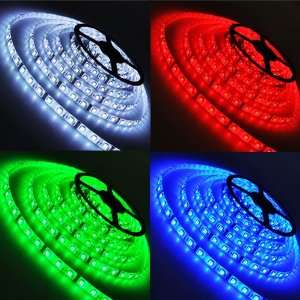5x 5M 5050 SMD 300 LED RGB Waterproof Strip Light+Remote